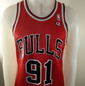 CHICAGO BULLS NBA CHAMPION BASKETBALL JERSEY sz40